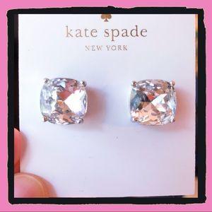 NWT Kate Spade Clear Square Stud Earrings